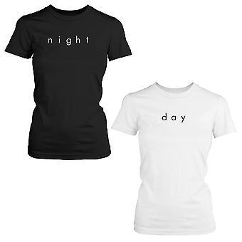 昼と夜かわいい BFF シャツ トレンディな最高の友人黒と白に一致する t シャツ