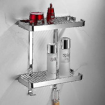 Bathroom accessory sets brass gold bathroom shelf shower shampoo soap cosmetic kitchen rectangle nail punchedcorner holder