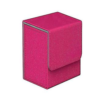 Card games cards box storage for 100+ pieces of trading game cards tcg pokemon ccg mtg yugioh pink