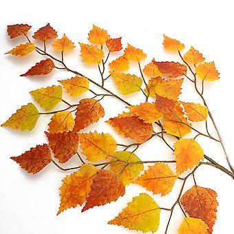 Neu - 68cm Herbst Künstliche Birkenblätter Spray für Floristik Handwerk