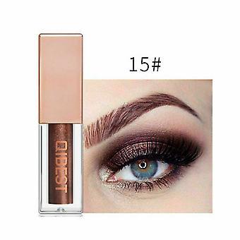 Qibest 15 Colors Glitter Liquid Eyeshadow Waterproof Lasting Shimmer Metallic Easy To Makeup Professional Eye Shimmer Eyeshadow