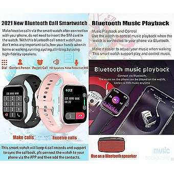 Belita Amy Chronus Smart Watch, 1,72 pouces Full Touch Screen Fitness Tracker avec rappel de texte d'appel Fréquence cardiaque Pression artérielle (rose)
