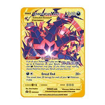 Für Pokmon Vmax Gx Kindermodell 16 Arten von Stilen Gold Metall Karte Sammlerkarte