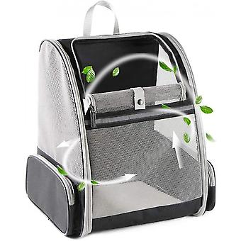 Qian Pet Backpack Carrier For Small Cats Dogs, Ventilated Design, Safety Straps