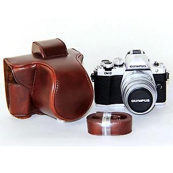 Pu bőr kamera táska Olympus Em10 Mark II Em10 Mark Iii Em10 Iii Em10 II bőr kamera tok fedél vállpánttal