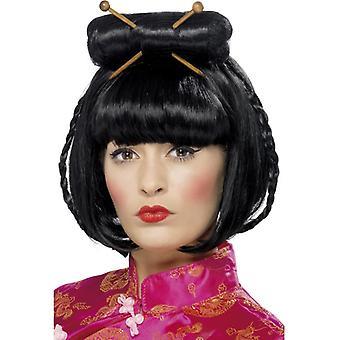 Oriental Lady parrucca, nera