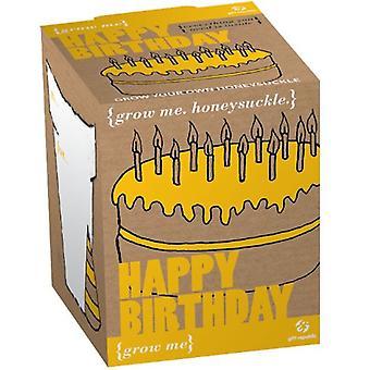 Plantning Kit-tillykke med fødselsdagen Honeysuckle frø 4-stykke mig vokse boks
