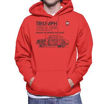 Haynes Workshop Manual 0086 Triumph 1300 1500 Black Men's Hooded Sweatshirt