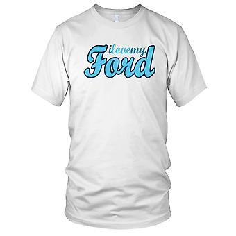 Ich liebe mein Ford Auto Kinder T Shirt