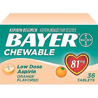 Bayer Orange Flavored Chewable lav Dose Aspirin smerte Reliever 2 Box Pack