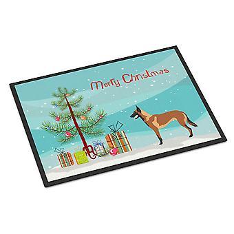 Malinois Belgian Shepherd  Christmas Indoor or Outdoor Mat 24x36