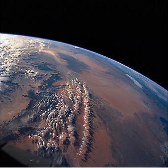 Den østlige Sandhavet og Western Sandhavet plakat Print af Stocktrek billeder