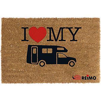 ريمو أنا أحب بلادي ممسحة Campervan جوز الهند