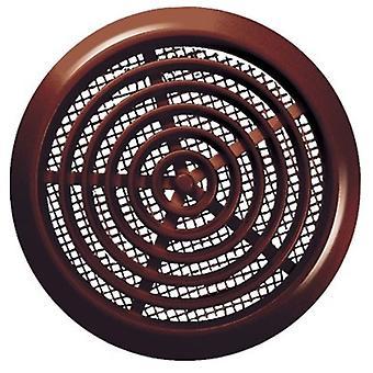 White/Brown 80mm Diameter Round Door Hole Air Vent Grille Woodwork Furniture