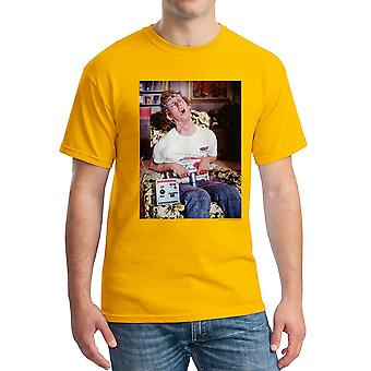 Napoleon Dynamite Time Machine Men's Gold Funny T-shirt