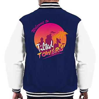Fortnite Welcome To Tilted Towers Men's Varsity Jacket