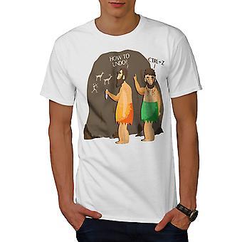 Funy Go Back Undo Men WhiteT-shirt   Wellcoda