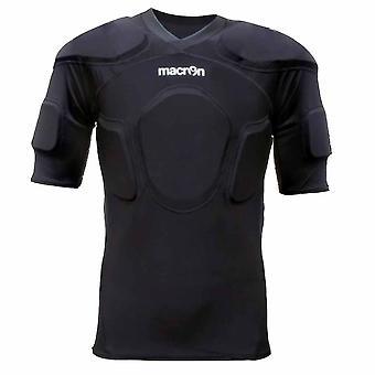 قميص مبطن تدريب المصارع مكرون (أسود)