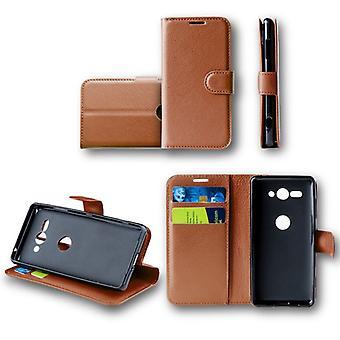 For Nokia 6 2018 Pocket wallet premium Brown Schutz sleeve case cover pouch new accessories