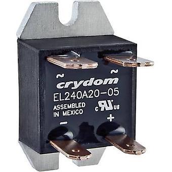 Crydom SSR EL240A20-05 Carga atual (máximo.): 20 Uma tensão de comutação (máximo.): 280 V AC Zero cruzando 1 pc (s)
