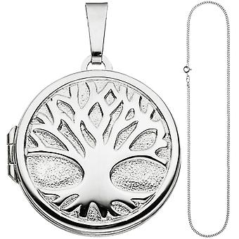 Medallion pendant tree of life world tree around 925 Silver necklace 50 cm