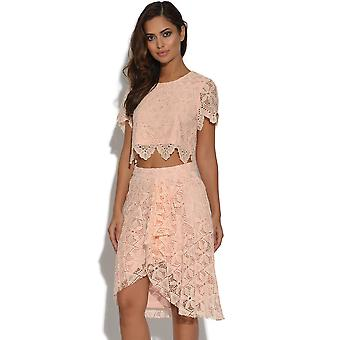Lydia Rose Bright Lace Midi kokerrok