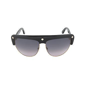 توم فورد ليان النظارات الشمسية FT0318 01B | إطار أسود / ذهبي | عدسة التدرج الرمادي
