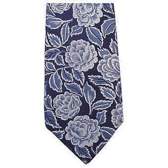 Knightsbridge Neckwear tonale Floral uavgjort - marineblå /