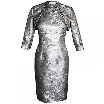 Veromia Occasions Metallic Capped Sleeve Dress & Jacket