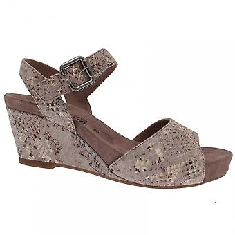 Mephisto Wedge Sandal With Velcro Ankle Strap