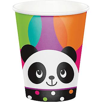 Panda party Cup cardboard 266 ml 8pcs Panda party birthday decoration
