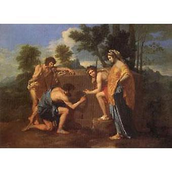 De herders van Arcadia, Nicolas Poussin, 60x40cm
