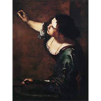 صورة ذاتية كما الرمزية من، أرتيميسيا Gentileschi، 50x38cm
