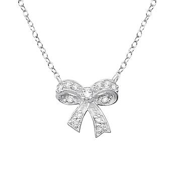 Bow - 925 Sterling Zilver Jewelled kettingen - W31115X