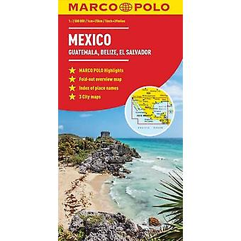 Mexico - Guatemala - Belize - El Salvador Marco Polo Map by Marco Pol