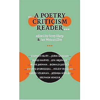 --A Poetry Criticism Reader-