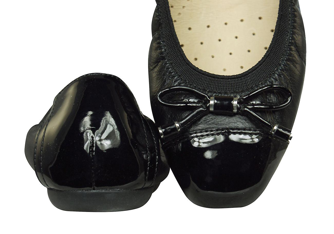 paso angustia pub  Geox D Lola 2FIT C Nappa Leather Womens Ballet Pumps / Shoes ...