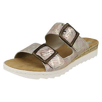 Dames Rouen gesp gedetailleerde Mule sandalen 63094