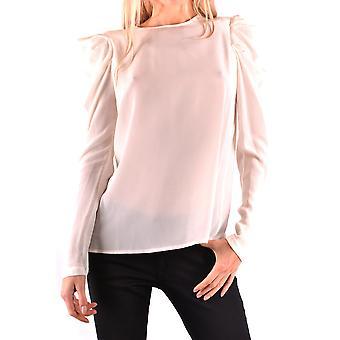 Pinko Ezbc056261 Kvinder's Hvid Viskose Bluse