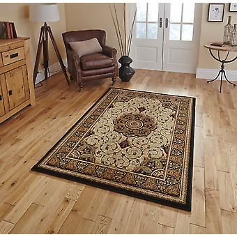 Heritage 4400 Black Cream  Rectangle Rugs Traditional Rugs