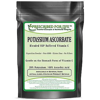 Potassium Ascorbate - Blended USP Buffered Vitamin C Powder - 20% K / 60% Ascorbic Acid