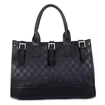 Womens ladies quilted style pu faux leather handbag