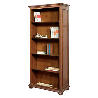 High-compartment bookcase with 4 shelves