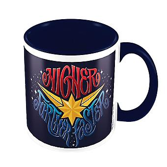 Captain Marvel Higher Further Faster Blue Mug