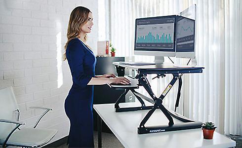 Flexispot M4B Standing Desk - 41 inch Cubicles Corner Desk Riser Computer Riser
