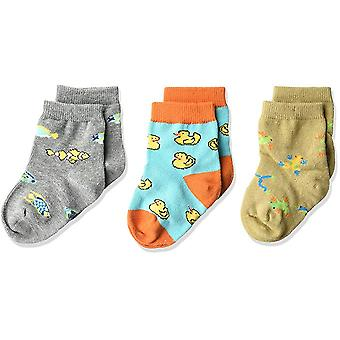 Kid's Crew Socks - K Bell - Colorful Fish 3Pk Infant Baby Charcoal Heather (12-24)