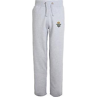 femte Royal Inniskilling Dragoon Guards-lisensiert britiske hæren brodert åpne hem sweatpants/jogging bunner