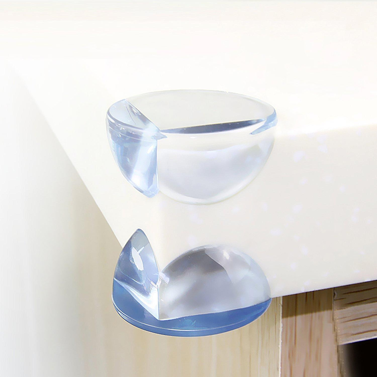 20x Transparent Table Corner Protectors - Safety Corners Protectors Guards Table Guards for Child and Baby 20pcs Large Clear