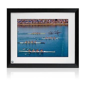 Sir Steve Redgrave Signed And Framed Photo: Sydney Photo Finish