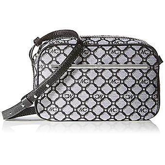 Marc Cain Shoulder Bag - Black-Silver 6x15x23cm (B x H T)